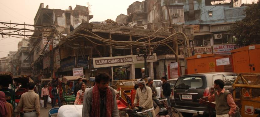 Rickshaw ride in OldDelhi