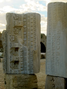 Remains of Carthage with Latin Inscriptions