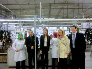 Professor Jedidi and students at the COFAT factory