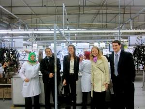 Professor Jedidi and students at the COFAT factory