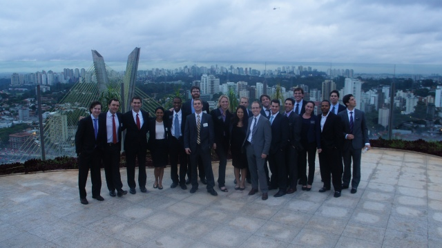The group on the roof of a newly completed building by Tishman SpeyerPhoto by Andrea Sulyanto