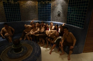 CBS students in one of the many saunas