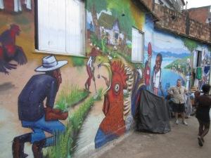 Rio favela graffiti