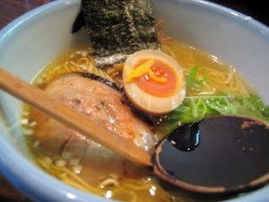 Yuzu (Japanese citron) Salt Ramen is good. Light taste Ramen shop