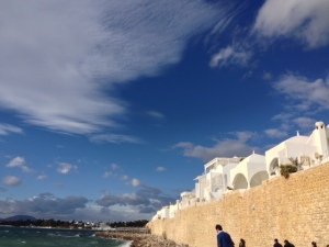 The Tunisian coastline.  Beautiful, but a little windy!