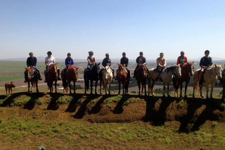 Horse riding very close to the Syrian boarder in Golan Heights