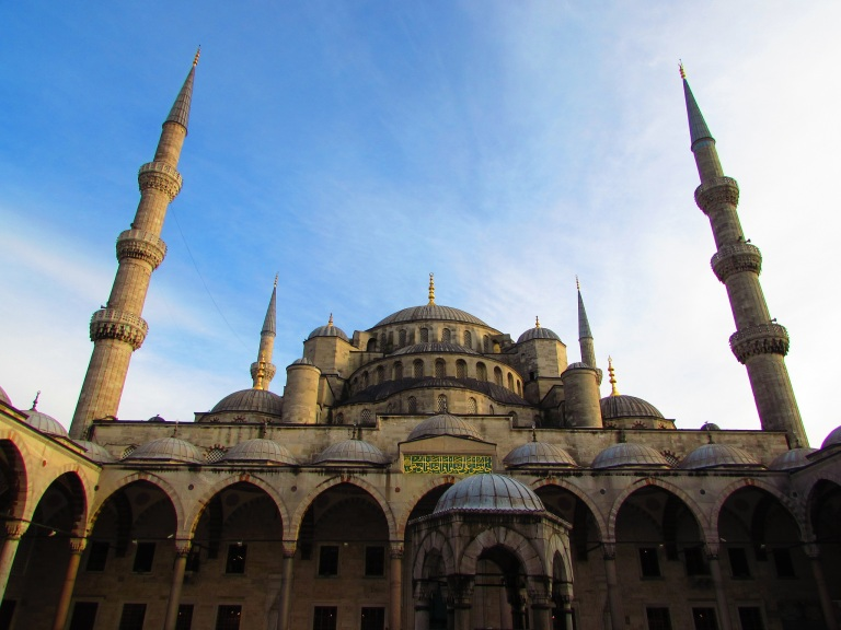 First day in Istanbul at the Blue Mosque.  Photo courtesy of Sarah Sung '15.