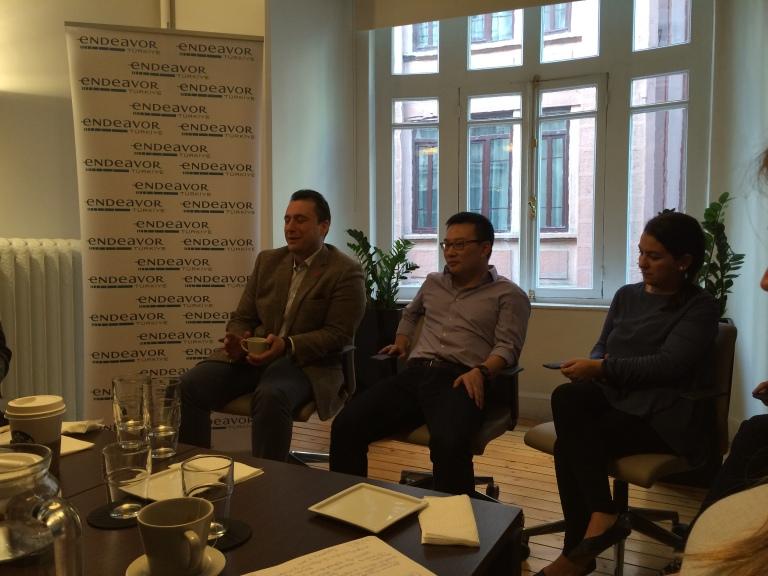 A panel of entrepreneurs organized by Endeavor.