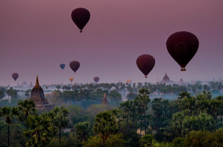 Our Hot Air Balloon Ride in Bagan