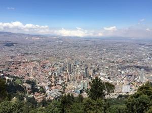 View of Bogota from Mount Monserratte