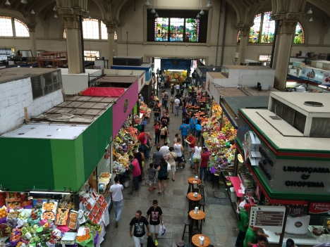 The Mercado Food Market in Sao Paulo
