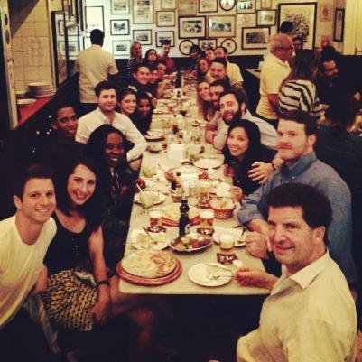 The whole class out for some Sao Paulo style Italian!