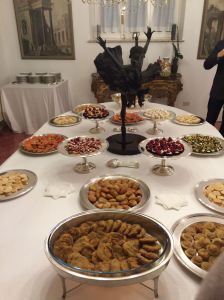 Lavish spread at Imran's villa