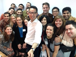 Ok so the selfie stick was kind of a thing. This time with John Riady, Director of Lippo Group