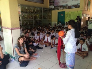 Storytelling at an Indonesian elementary school