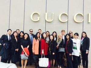 Outside Gucci
