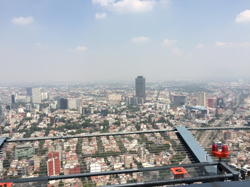 View over Mexico City from the Helipad on Torre Mayor