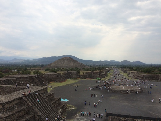 View over the pyramids in Teotihuacan