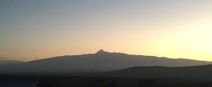 Sunrise Run - Mount Kenya