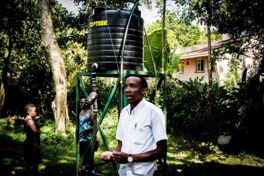 Francis explaining the pumping process
